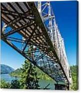 Bridge Over Columbia River Canvas Print