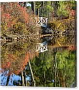 Bridge Over Fall Waters Canvas Print