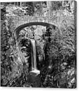 Bridge Over Falls Canvas Print