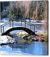 Bridge Over Ice N Snow Canvas Print