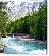 Bridge Over Mcdonald Creek In Glacier Np-mt Canvas Print