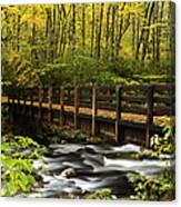 Bridge Over Oconaluftee Canvas Print