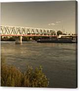 Bridge Over Rhein River Canvas Print