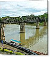 Bridge Over River Kwai In Kanchanaburi-thailand Canvas Print