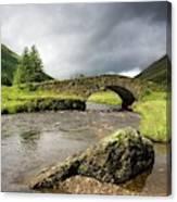 Bridge Over River, Scotland Canvas Print