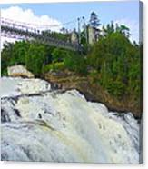 Bridge Over Rushing Water Canvas Print