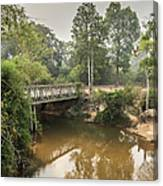Bridge Over Siem Reap River On The Road Canvas Print