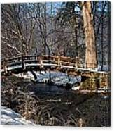 Bridge Over Snowy Valley Creek Canvas Print