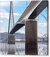 Bridge Over The Mist Canvas Print