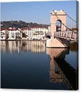 Bridge Over The Rhone River Canvas Print