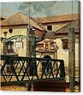 Bridge Over The River Guadalmedina In Malaga I. Spain Canvas Print