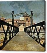 Bridge Over The River Guadalmedina In Malaga. Spain Canvas Print