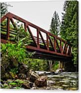 Bridge Over The Snoqualmie River - Washington Canvas Print