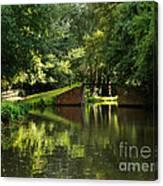 Bridge Over The Wey Navigation In Surrey Canvas Print