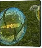 Bridge Reflections In The Bubbles Canvas Print
