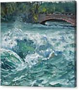 Bridge To Goat Island Canvas Print