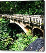 Bridge To Hana Maui Canvas Print