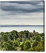 Bridge To Mackinac Canvas Print
