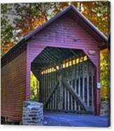 Bridge To The Past Roddy Road Covered Bridge-a1 Autumn Frederick County Maryland Canvas Print