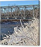 Bridge To Winter Canvas Print
