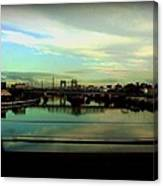 Bridge With White Clouds Canvas Print