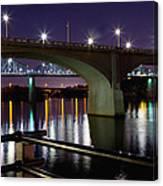 Bridges At Night Canvas Print