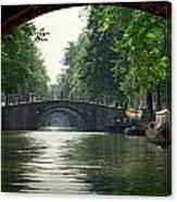 Bridges In Amsterdam Canvas Print