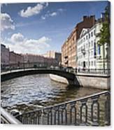 Bridges Of St. Petersburg Canvas Print