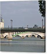 Bridges Over The Seine And Conciergerie - Paris Canvas Print