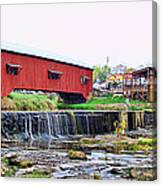 Bridgeton Mill And Covered Bridge Canvas Print