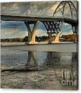 Bridging Vermont And New York Canvas Print
