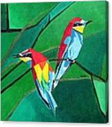 Brighly Colored European Bee-eaters Canvas Print