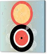 Bright Abstract Background With Plates Canvas Print