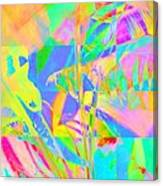 Bright Abstracted Banana Leaf - Square Canvas Print