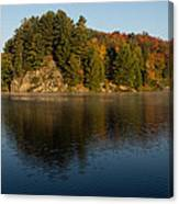 Bright And Sunny Autumn Reflections Canvas Print
