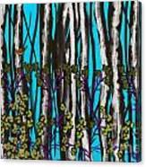 Bright Blue And Birch Canvas Print