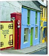 Bright Buildings In Ireland Canvas Print