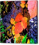 Bright Colorful Leaves Vertical Canvas Print