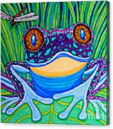 Bright Eyed Frog Canvas Print