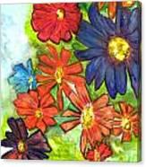 Bright Flower Bunch Canvas Print