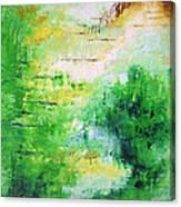 Bright Green Modern Abstract Garden Spirits By Chakramoon Canvas Print