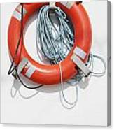 Bright Life Saving Ring Canvas Print