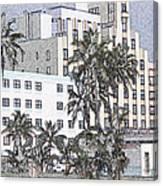 Bright Light Miami Beach Canvas Print