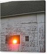 Bright Sunrise Through Barn Canvas Print