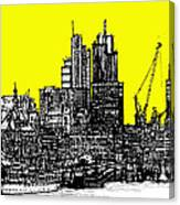 Dark Ink With Bright Yellow London Skies Canvas Print