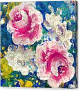 Brightly Floral Canvas Print