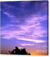 Brilliant Blue Sunrise Canvas Print