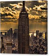 Brilliant But Hazy Manhattan Day Canvas Print