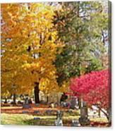 Brilliant Colors In The Cemetery  Canvas Print