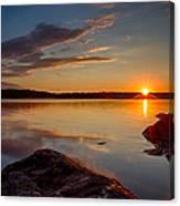 Brilliant Sunrise. Baxter Lake Nh Canvas Print